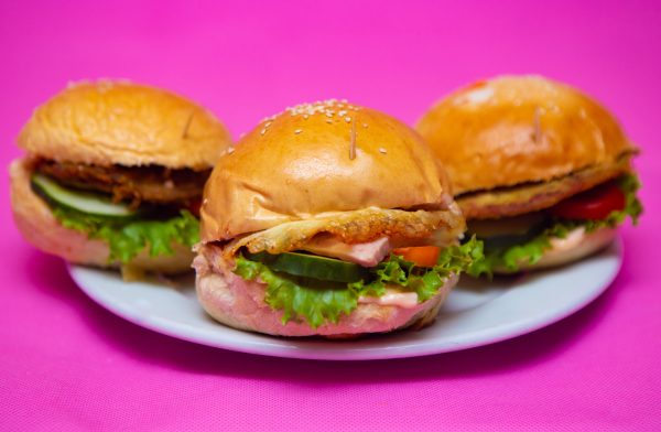 Types of burger at The Promise